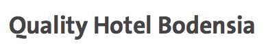 Norrbotten - Quality hotel Bodensia